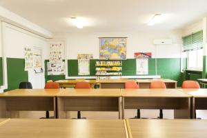 7. L'aula al quarto piano